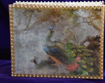 Peacock Jewelry Casket