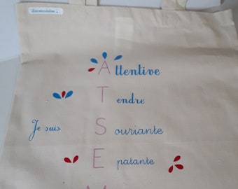 Whole bag gift personalized teacher aides, whole bag ėcru any bag