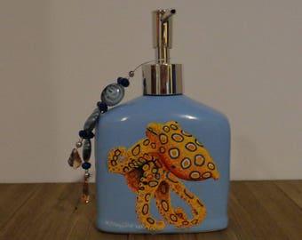 Octopus Soap Dispenser, Octopus, Hand Painted Soap Dispenser, Hand Painted Lotion Dispenser, Octopus Lotion Pump, Soap Pump, Unique Gifts,