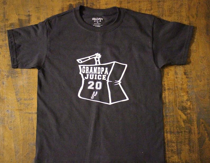 cheaper efa01 e2cee Spurs Shirt - Grandpa Juice shirt - San Antonio Shirt - Basketball shirt -  Tops and Tees - Shirts - Ginobili shirt - Spurs Basketball -