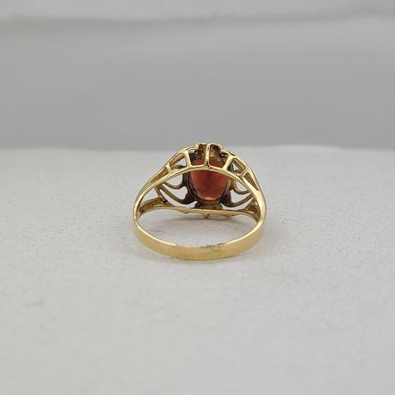 Vintage Garnet and Diamond Ring - image 5