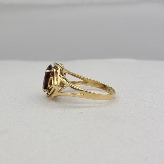 Vintage Garnet and Diamond Ring - image 3