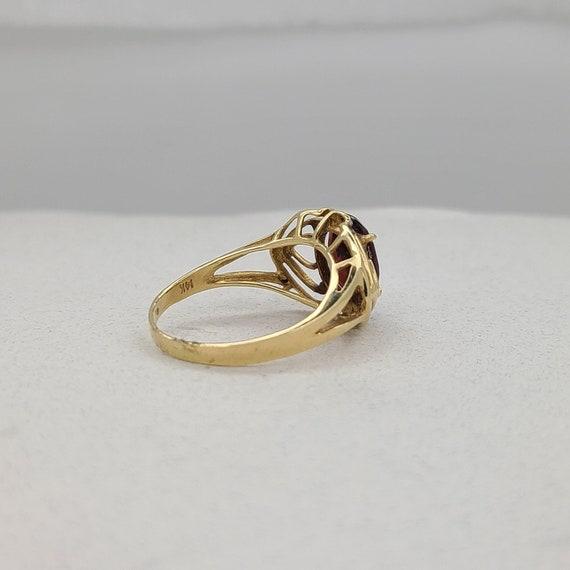 Vintage Garnet and Diamond Ring - image 6