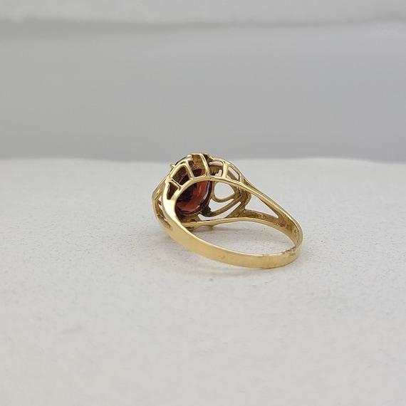 Vintage Garnet and Diamond Ring - image 4
