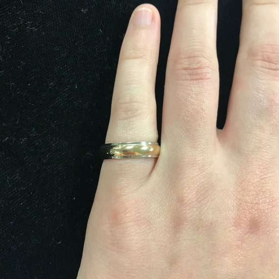 Two-Tone Yellow and White Gold Band