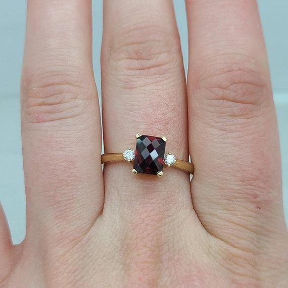 Delicate Garnet Ring