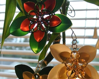 scale flower tree ornaments