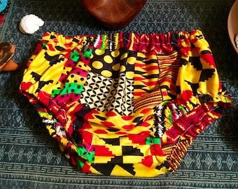 African Print Diaper Covers