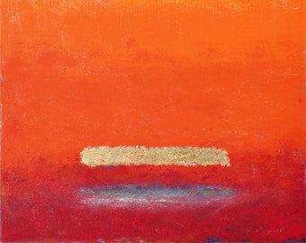 Trinitarian Theology: Dreaming of Rothko #40 - 24 x 24 inch, original oil & gold foil painting, custom framed, ready to hang