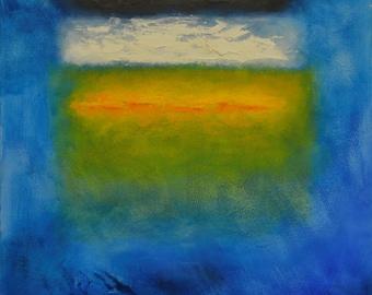 Trinitarian Theology Dreaming of Rothko #21 - Original Abstract Oil Painting Framed, ready to hang