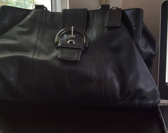 Leather Coach Bag (Used)