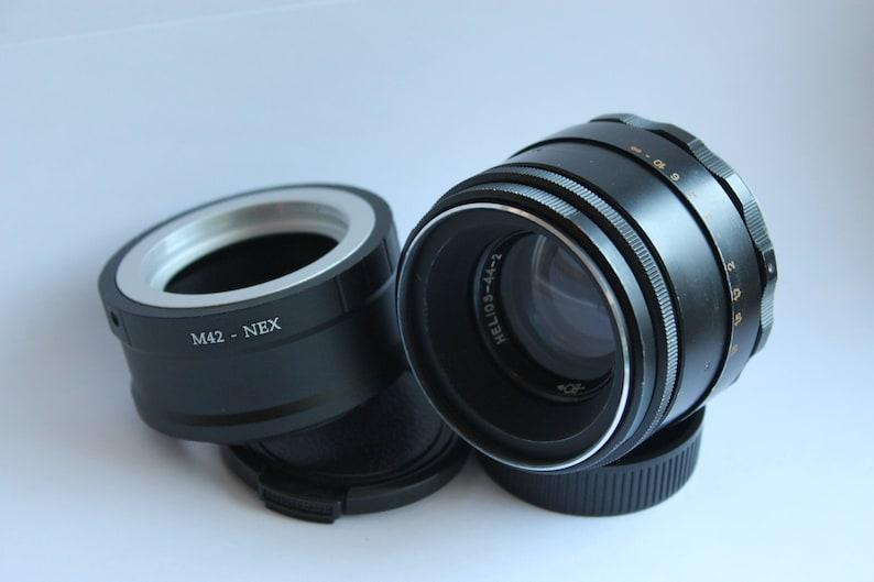 Helios-44-2 58mm f / 2 Lens adapter E-Mount Sony NEX A 7 R 7S II a5000 a6000