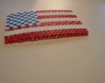 Patriotic American Flag Fuse Bead Craft