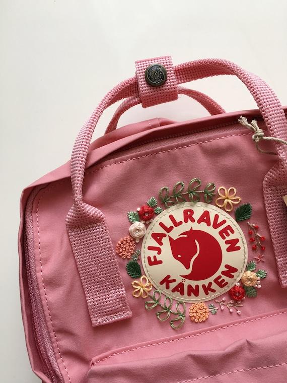 authentic really comfortable limited guantity Fjallraven Kanken Stickerei Rucksack
