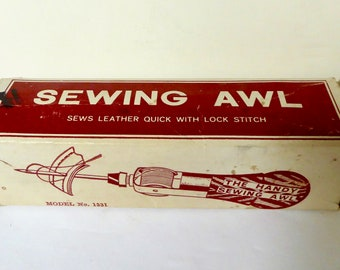 Vintage Richard's Famous Lock-Stitch Sewing Awl For Heavy Duty Work