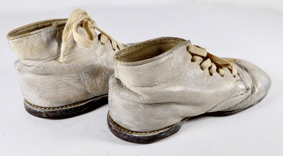 Vintage Ideal Baby Shoes Toddler Size 2 White Buc… - image 3