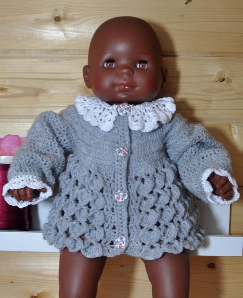 f0e2f2c9415b Jacket jacket layette Cardigan baby crochet stitch EV