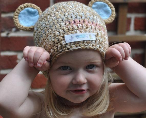 Lustigen Hut Mütze Tragen Ohren Häkeln Hand 51 Cm