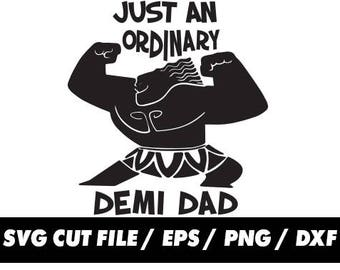 ca600a0d Just an ordinary demi dad svg, Moana Maui Fathers day pattern tail clipart  svg eps png dxf - Fabric Cut Print Mug Shirt Decal Active