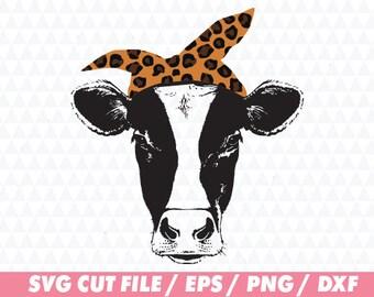 Heifer svg, Cow svg, Distressed cow svg, Heifer please svg, Cow cut file, Heifer cut file, Svg file, Animal svg, Bandana svg, Leopard svg