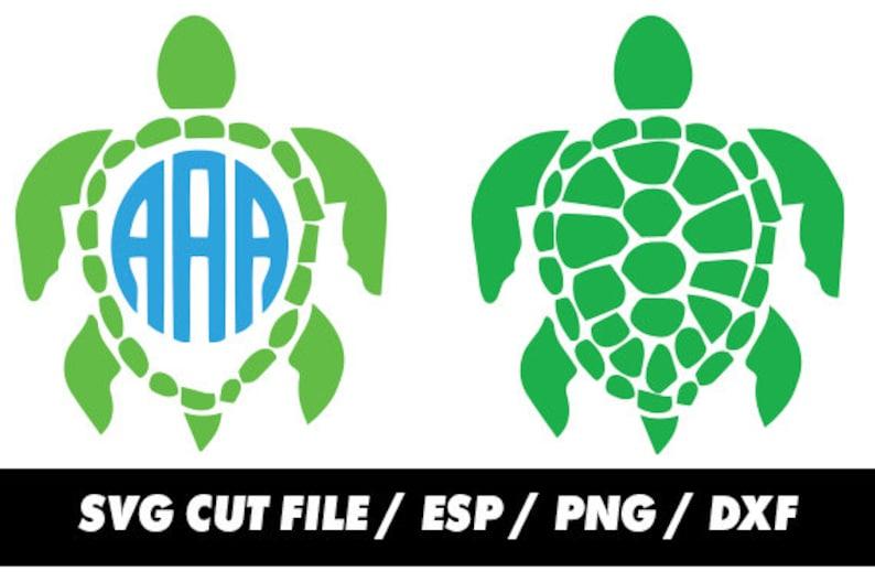 Download Sea turtle Monogram svg clipart digital svg eps png dxf | Etsy