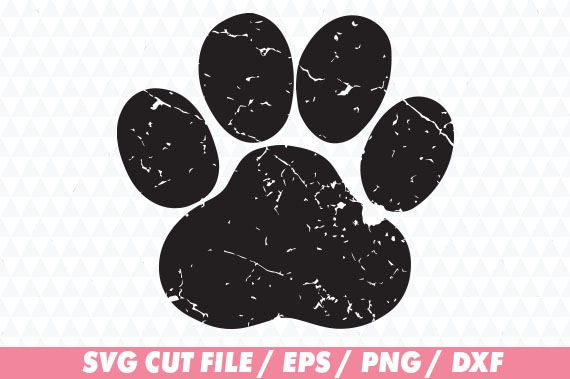 Download Paw svg Distressed paw cricut Distressed svg Distressed ...
