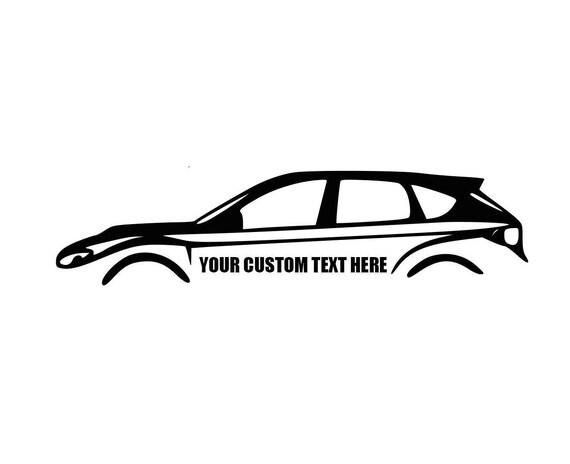 Subaru 08 14 Hatchback Custom Decal Subaru Decal Wagon Decal Etsy