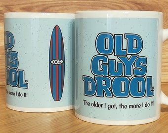 Old Guys Rule Parody Mug Drool C Funny Surfers Gift Male Birthday Present For Him Mens Fathers Day