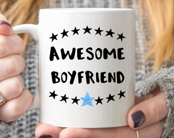Awesome Boyfriend C Mug Romantic Gift For Male Valentines Day Funny Him Mens Birthday Present