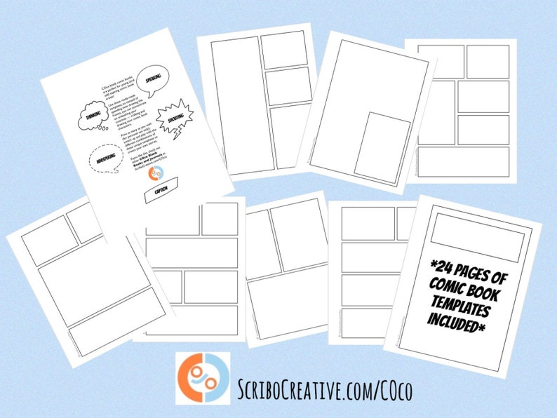 Great Gift Idea: COco Blank Comic Book Templates by Maria image 0