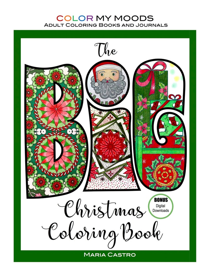 The BIG Christmas Coloring Book by Color My Moods Adult image 0