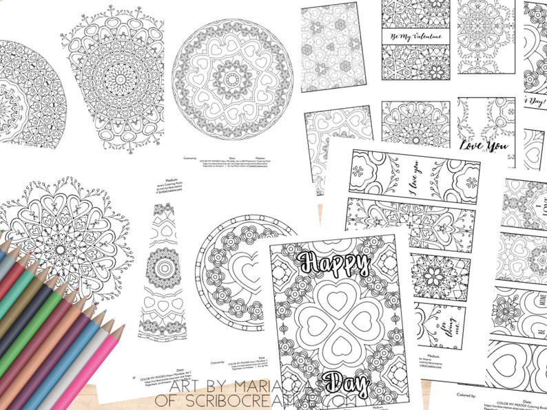 Valentine's Day Coloring Pages/Coloring Pack 2019 image 0