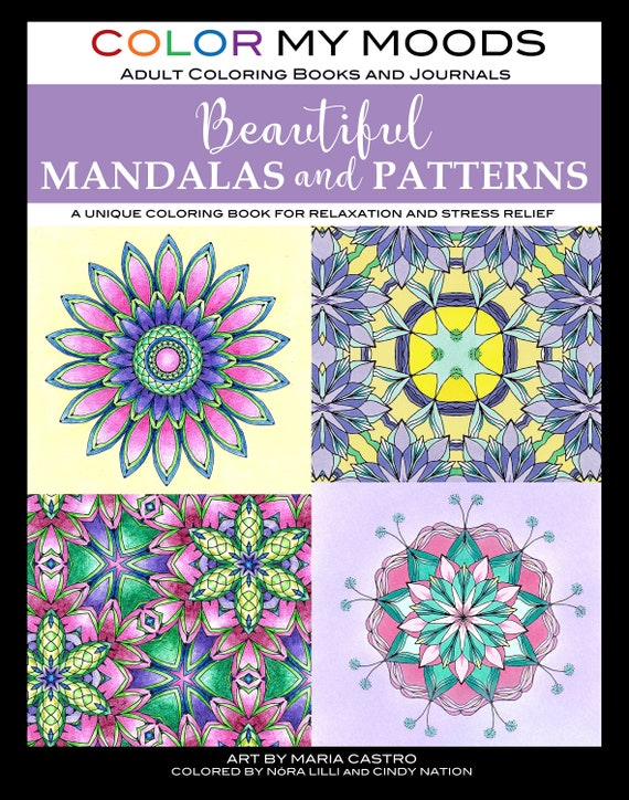 - Beautiful Mandalas And Patterns Coloring Book Color My Moods Etsy
