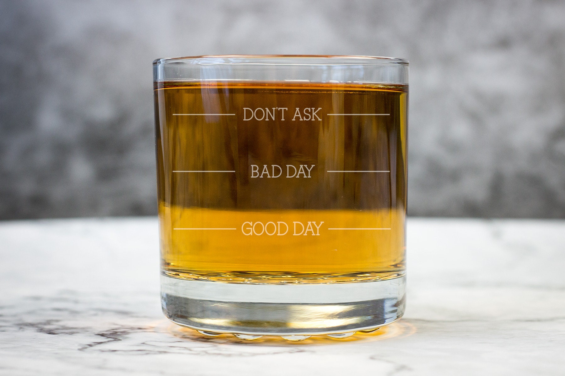 Bad Day Good Day Don/'t Ask Whiskey Glass 16oz Novelty Glass Gift Idea BNIB