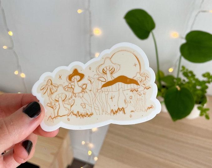 mushroom sticker, mushroom lover sticker, trendy stickers, vinyl stickers