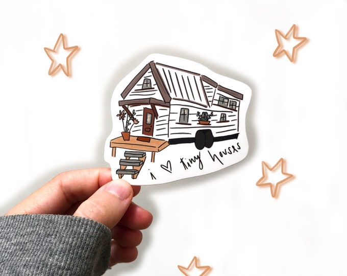 tiny houses sticker | tiny house lover | house sticker | adventure lover gift | minimalist gift