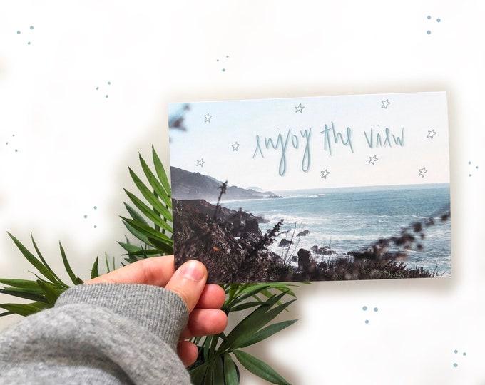 postcard of the ocean | ocean photograph | big sur california photograph | enjoy the view