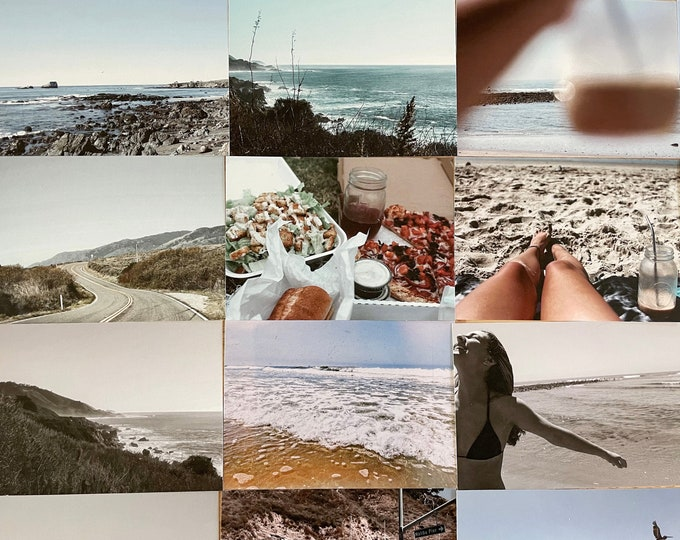 Aesthetic Beach Vibes Collage Kit 32pc