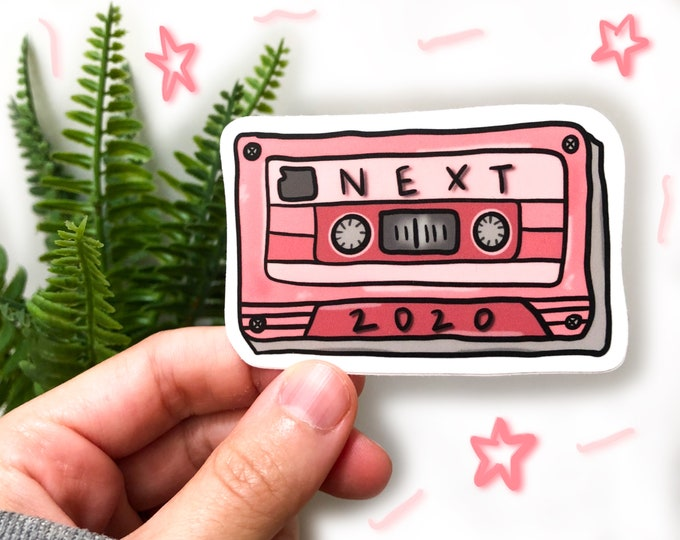 cassette tape sticker | vintage sticker | water bottle sticker | 2020 sticker