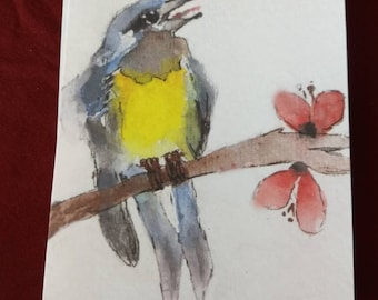 Wood Warbler watercolor note cards