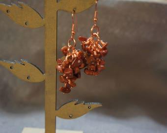 Gemstone cluster earrings: see listings for variations