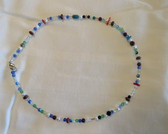 Multi Beads with Crystals and Fresh Water Pearls
