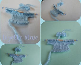 Baby: little knit sweater for scrapbooking-shaped, share, decorative miniature, babyshower, candy