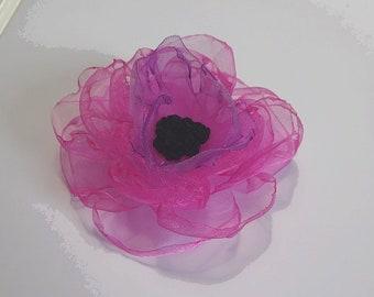 "giant pink poppy organza 10 cm (3,94 "")"