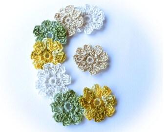 Flowers 8 crochet cotton retro - vintage