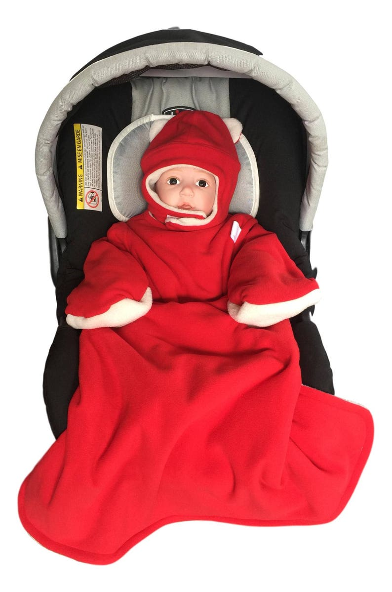 2a947381a Red Bucket Jacket car seat friendly jacket for babies safe