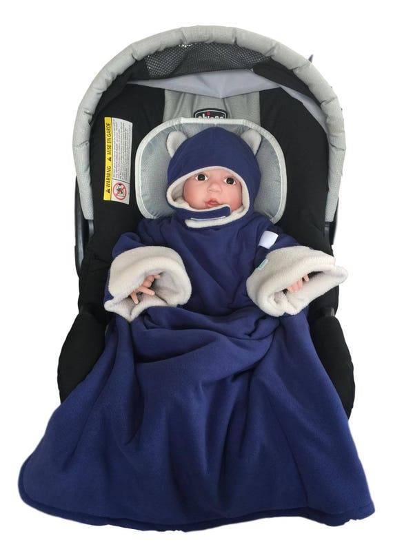 a9499ce5f Blue Travel Blanket car seat friendly jacket for babies safe