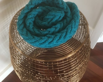 Pure Australian Wool Hand Knitted Scarf