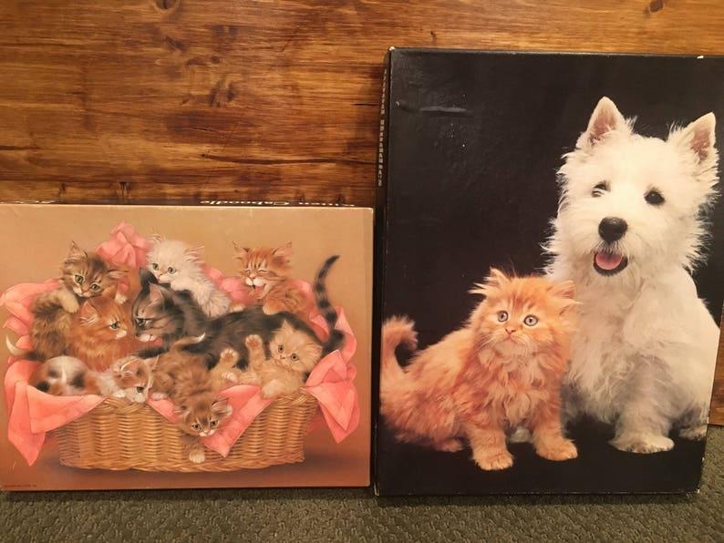 Vintage cat puzzles