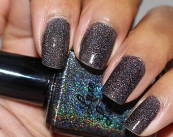 Hypnotize Holographic Nail Polish (Black)